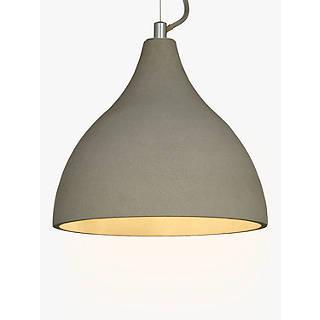 Ceiling lighting furniture lights john lewis john lewis emile concrete pendant light grey aloadofball Images