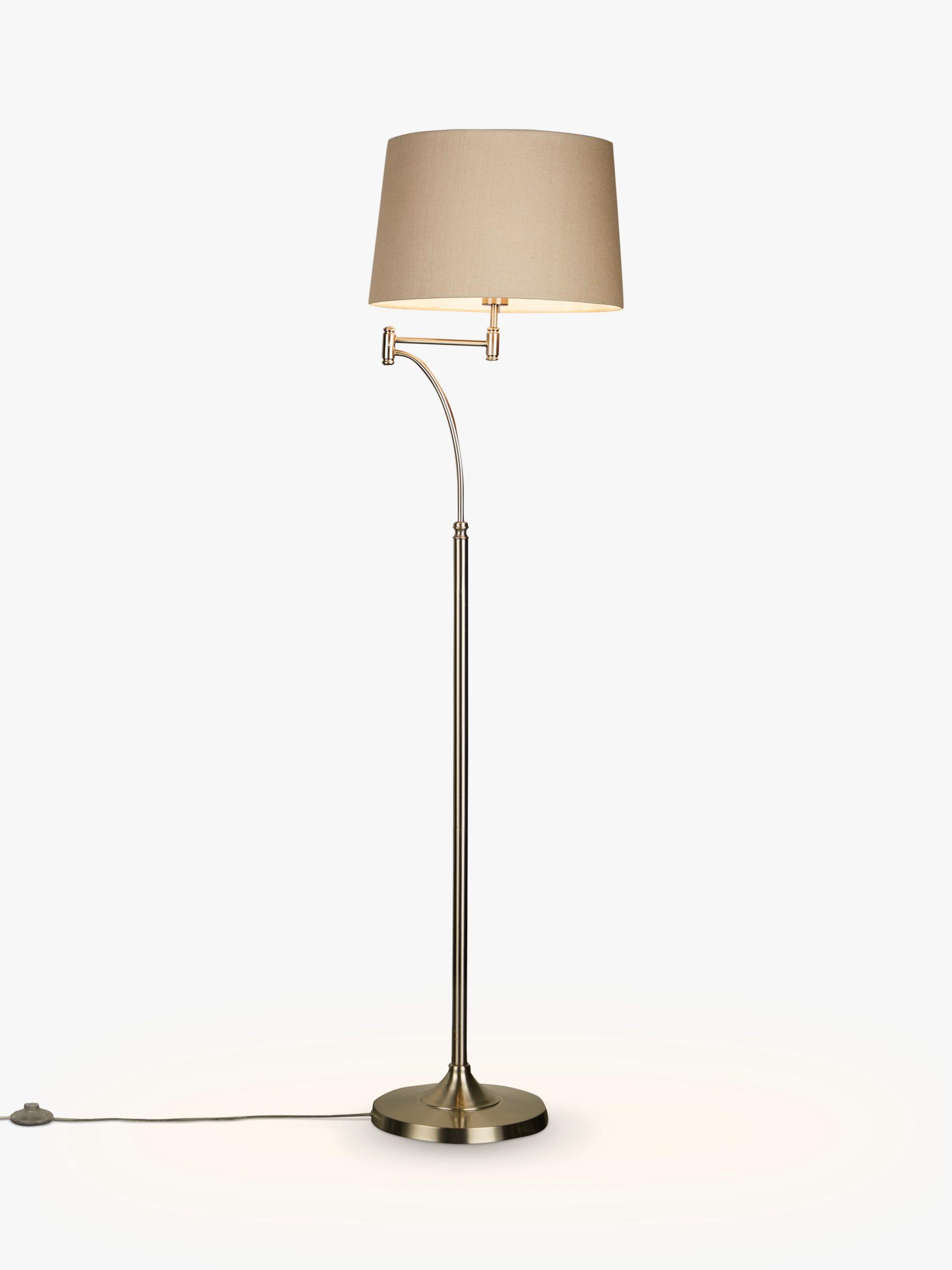 John Lewis Partners Evelyn Swing Arm Floor Lamp Nickel At John Lewis Partners