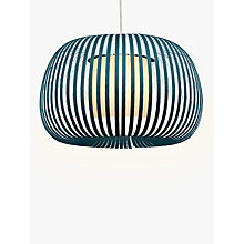 Buy John Lewis Harmony Velvet Ribbon Ceiling Light, Small, Kingfisher Online at johnlewis.com