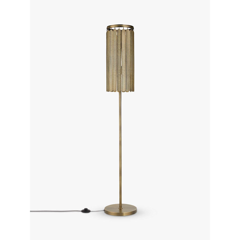 John Lewis Indriya Floor Lamp, Antique Brass at John Lewis