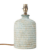 Buy John Lewis Hilbre Etched Ceramic Lamp Base Online at johnlewis.com