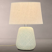 Buy John Lewis Iona Small Table Lamp, Teal Online at johnlewis.com