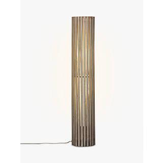 Grey floor lamps john lewis john lewis helston wooden slatted cylinder floor lamp grey aloadofball Image collections