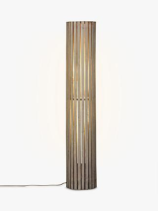 Floor lamps furniture lights john lewis john lewis helston wooden slatted cylinder floor lamp grey mozeypictures Gallery