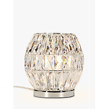 Buy John Lewis Kelsey Crystal Table Lamp, Clear Online at johnlewis.com