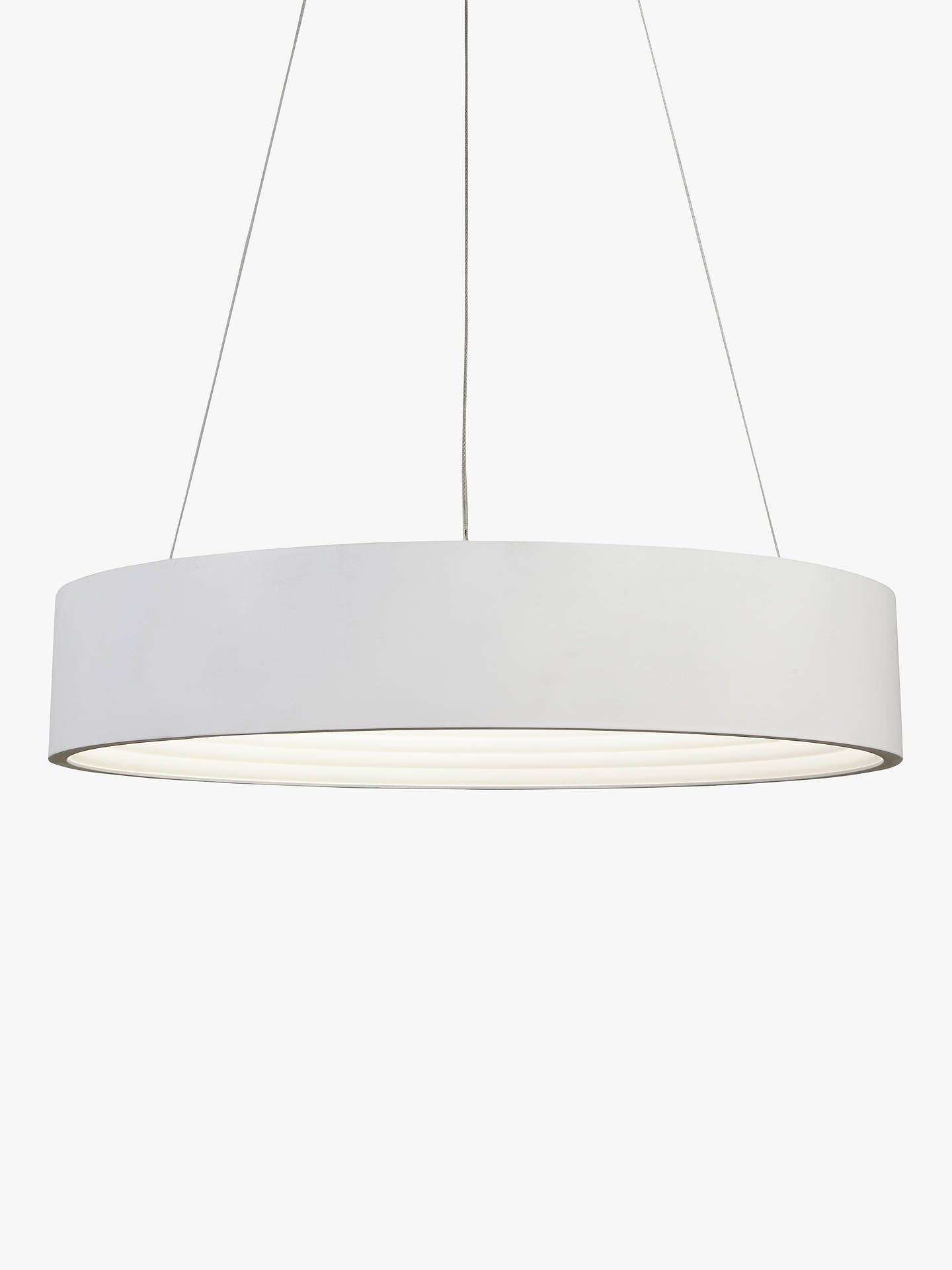 new arrival 0f9a7 5c30e John Lewis & Partners Leif Small LED Ribbed Hoop Ceiling Light, White