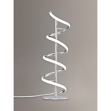 Buy John Lewis Zena LED Twist Table Lamp, Polished Chrome Online at johnlewis.com