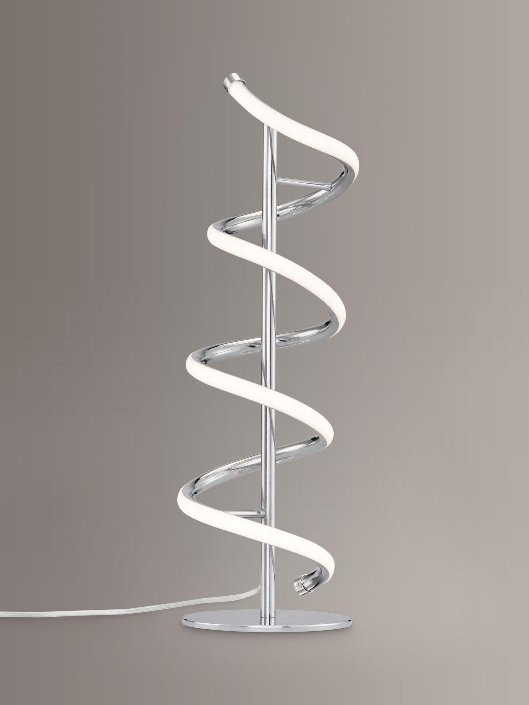 Picture of: John Lewis Partners Zena Led Twist Table Lamp Polished Chrome At John Lewis Partners
