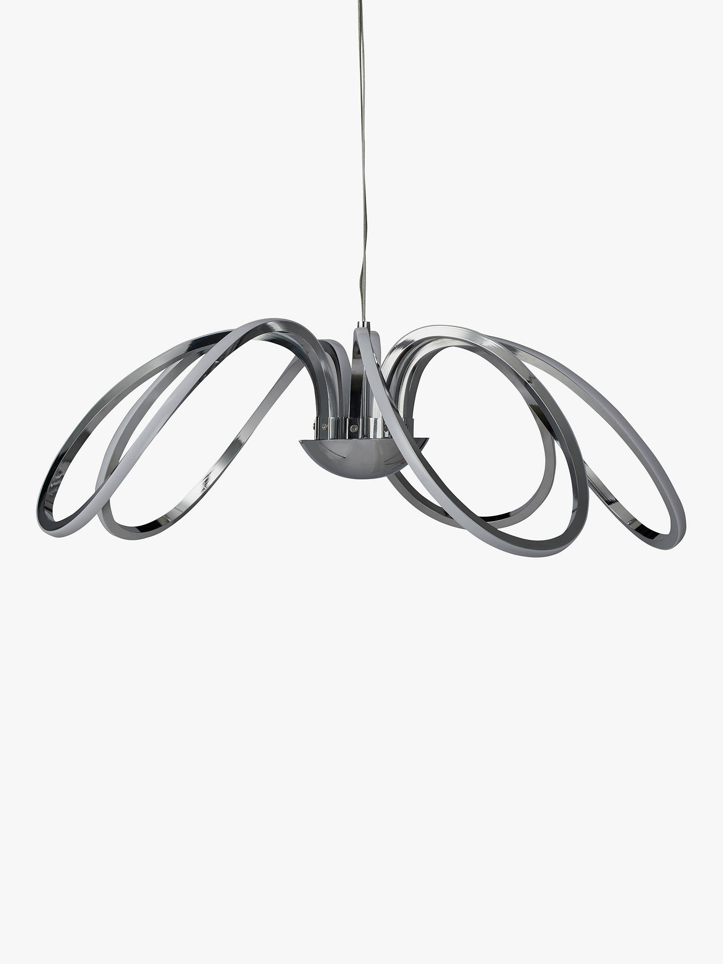 John Lewis Partners Ora Led 5 Arm Ceiling Light Chrome Online At Johnlewis