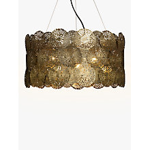 Buy John Lewis Onella Showstopper Disc Ceiling Light, Antique Brass Online at johnlewis.com