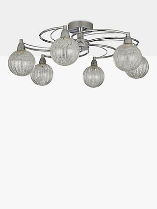 Flush ceiling lights indoor lighting john lewis partners john lewis partners robertson semi flush 6 arm ceiling light chrome aloadofball Image collections