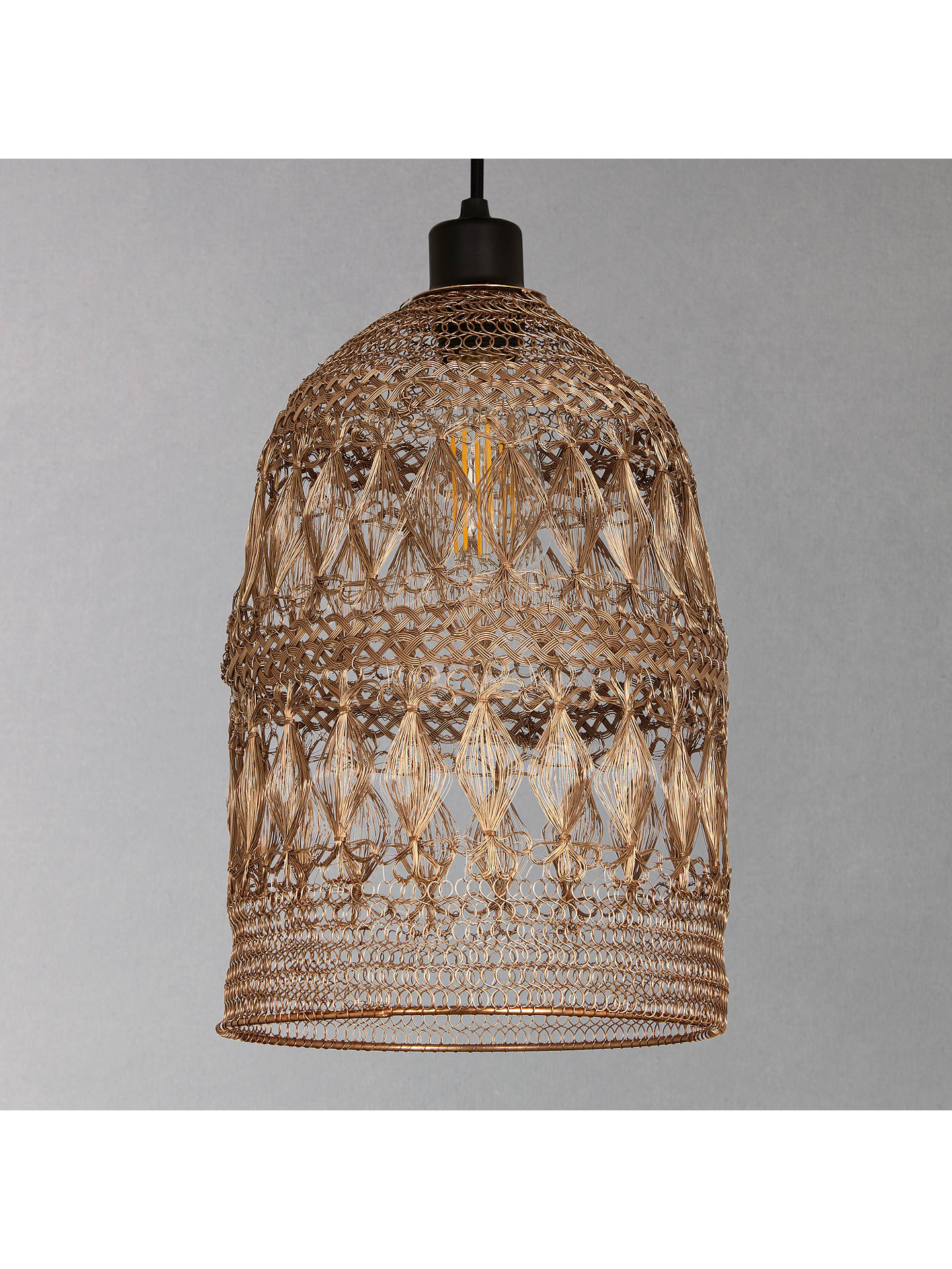 BuyJohn Lewis & Partners Papri Easy-to-Fit Steel Ceiling Shade, Copper Online at johnlewis.com