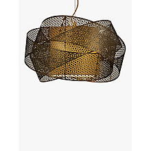 Buy John Lewis Afia Cutwork Swirl Ceiling Light, Antique Brass Online at johnlewis.com