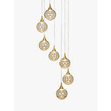 Buy John Lewis Marlo 7 Pendant LED Cluster Ceiling Light, Gold Online at johnlewis.com
