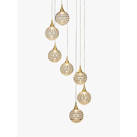 Ceiling lighting furniture lights john lewis buy john lewis marlo 7 pendant led cluster ceiling light gold online at johnlewis mozeypictures Choice Image