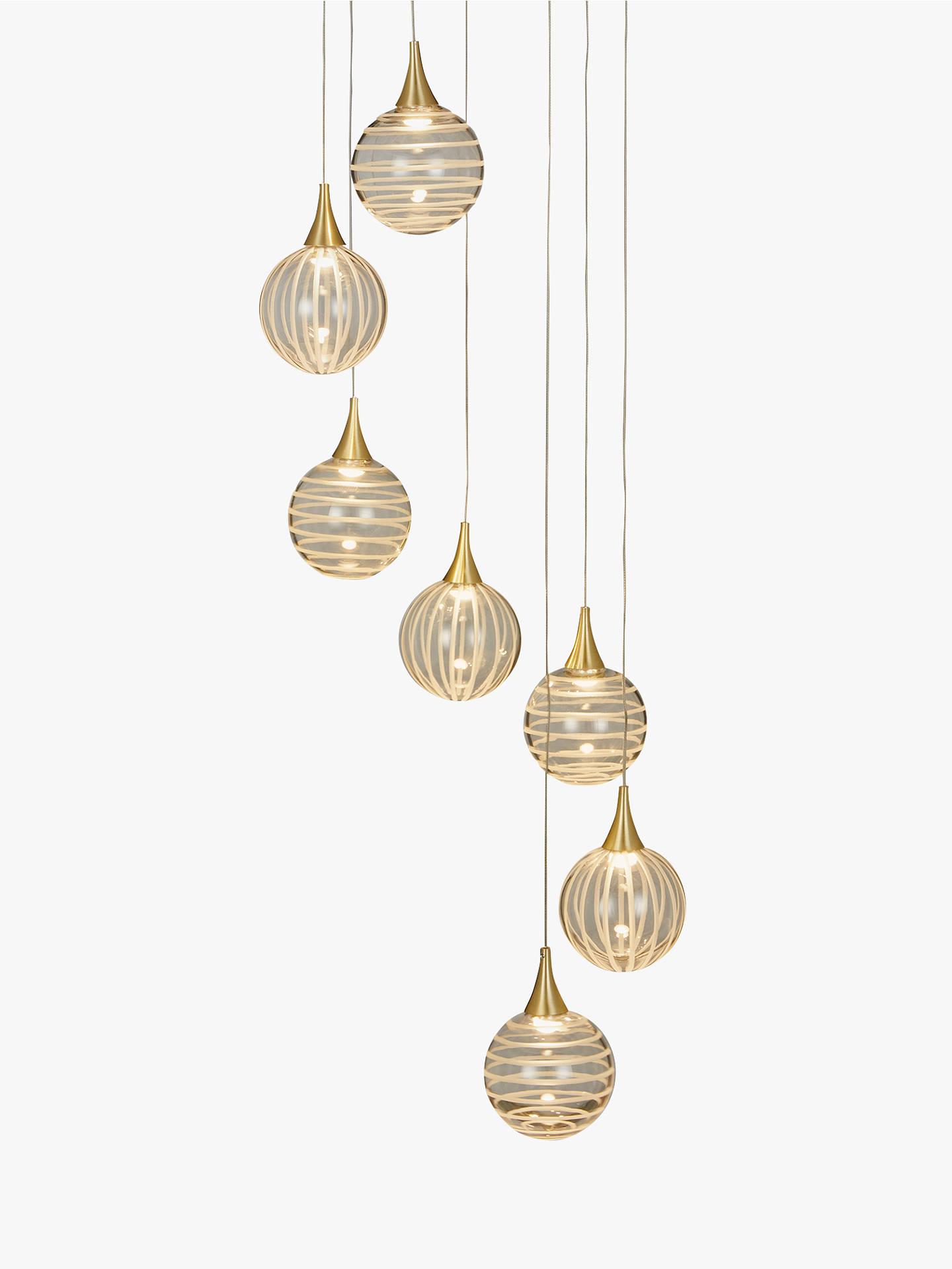 John Lewis Partners Marlo 7 Pendant Led Cer Ceiling Light Gold