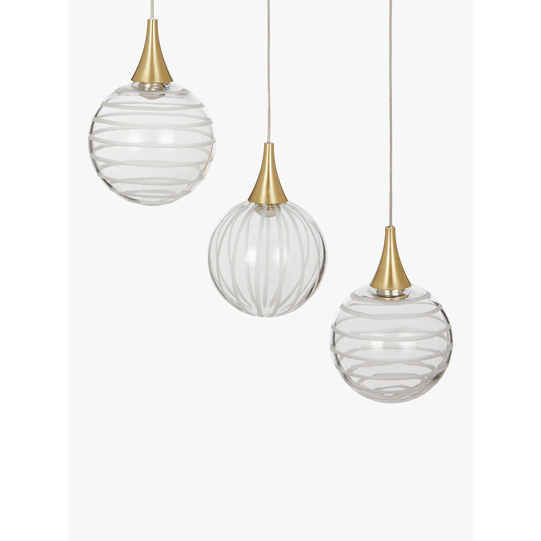 John Lewis Marlo 7 Pendant LED Cluster Ceiling Light, Gold