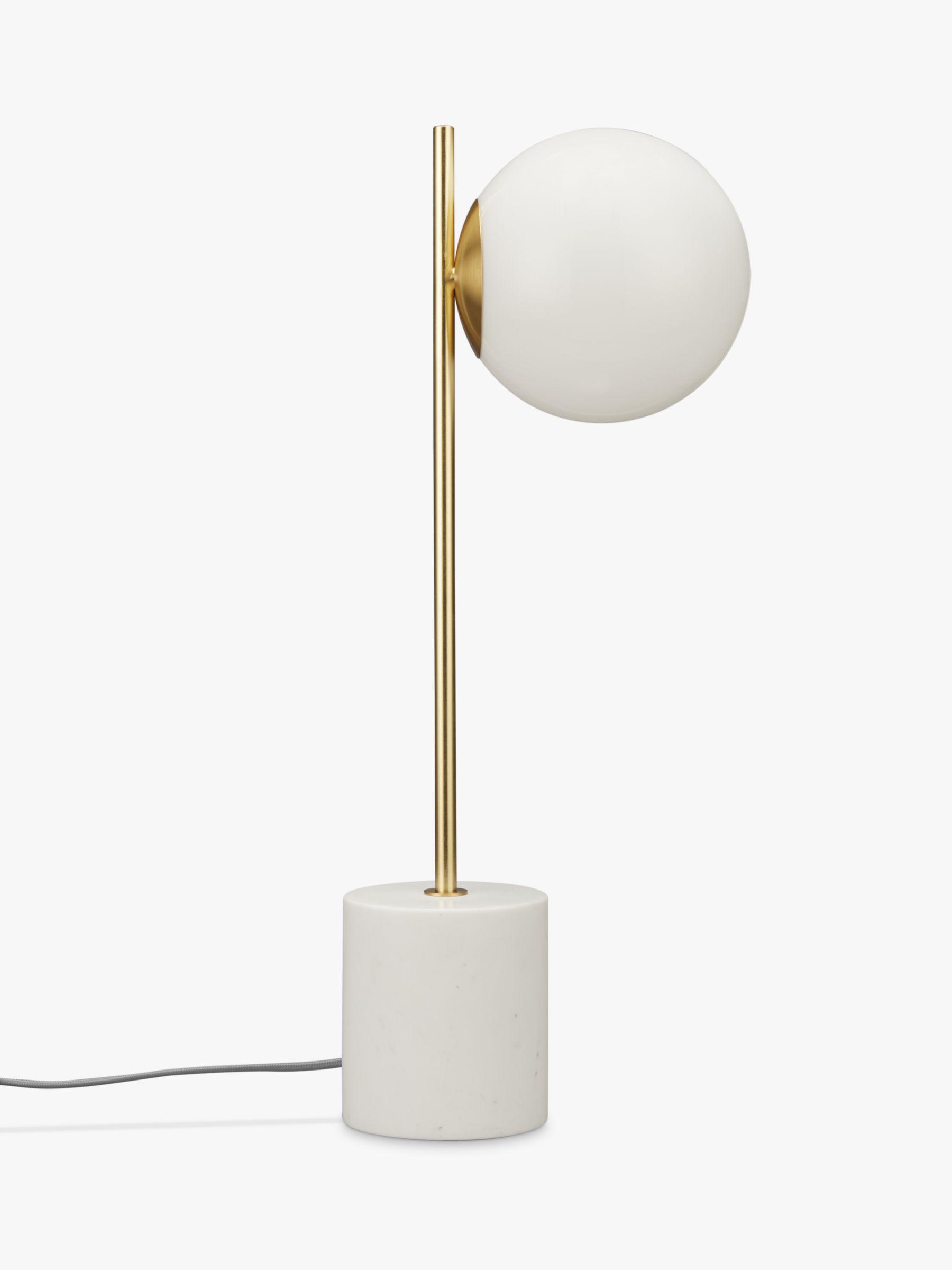 West Elm Sphere Stem Table Lamp Brass At John Lewis Partners