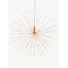 Buy Think Gadgets Starburst Hanging Lantern, Copper Online at johnlewis.com