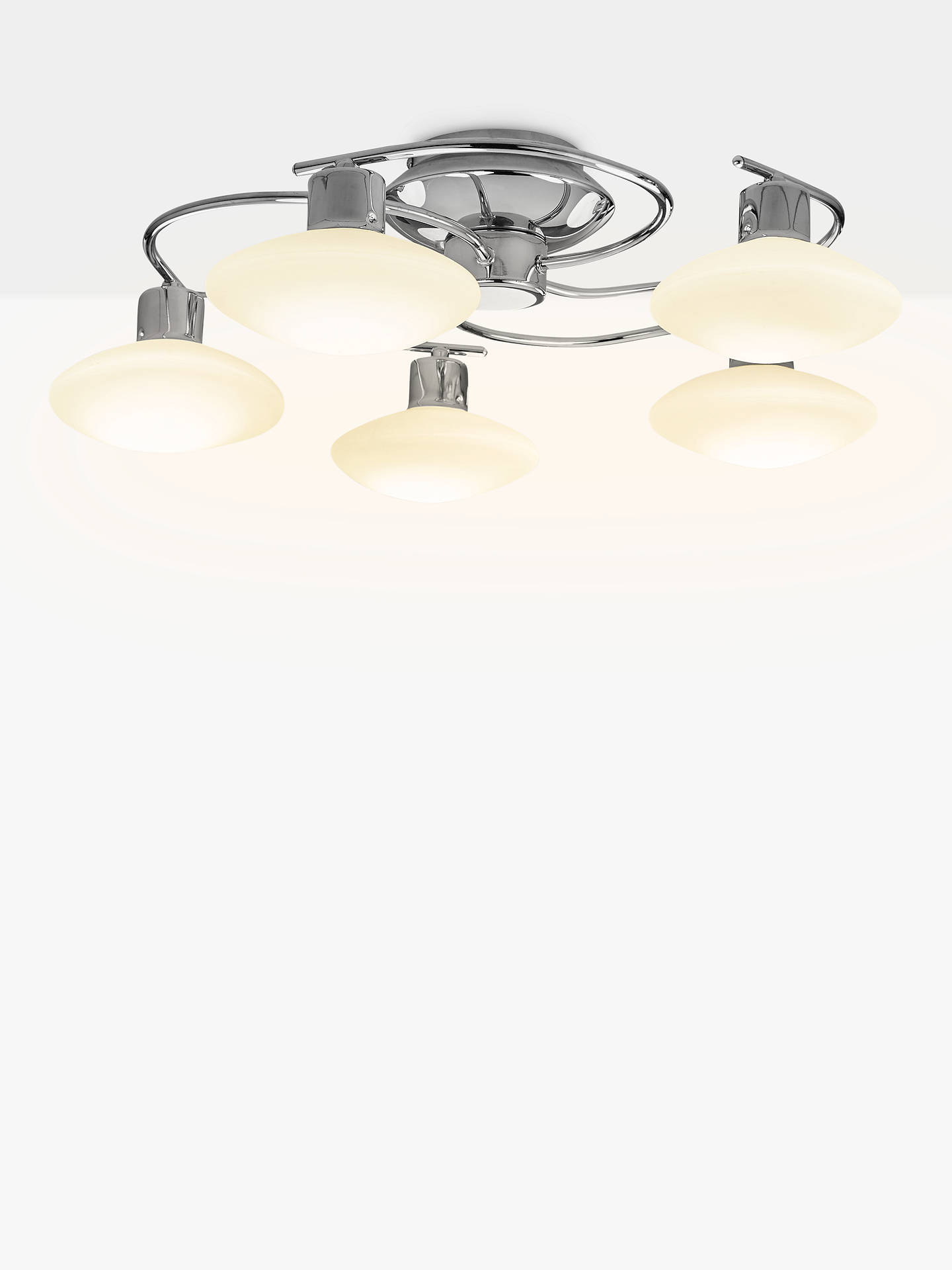 Apple Tree Village Five Light Chandelier Polished Chrome Finish with Clear