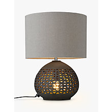 Buy John Lewis Sabiha Cutwork Dual Lit Table Lamp, Black Online at johnlewis.com