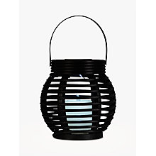 Buy John Lewis Tresta Rattan Lantern Solar Outdoor Light, Brown Online at johnlewis.com