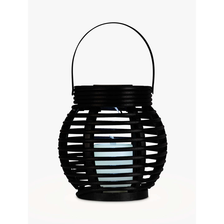 John lewis tresta rattan lantern solar outdoor light brown at buyjohn lewis tresta rattan lantern solar outdoor light brown online at johnlewis mozeypictures Gallery