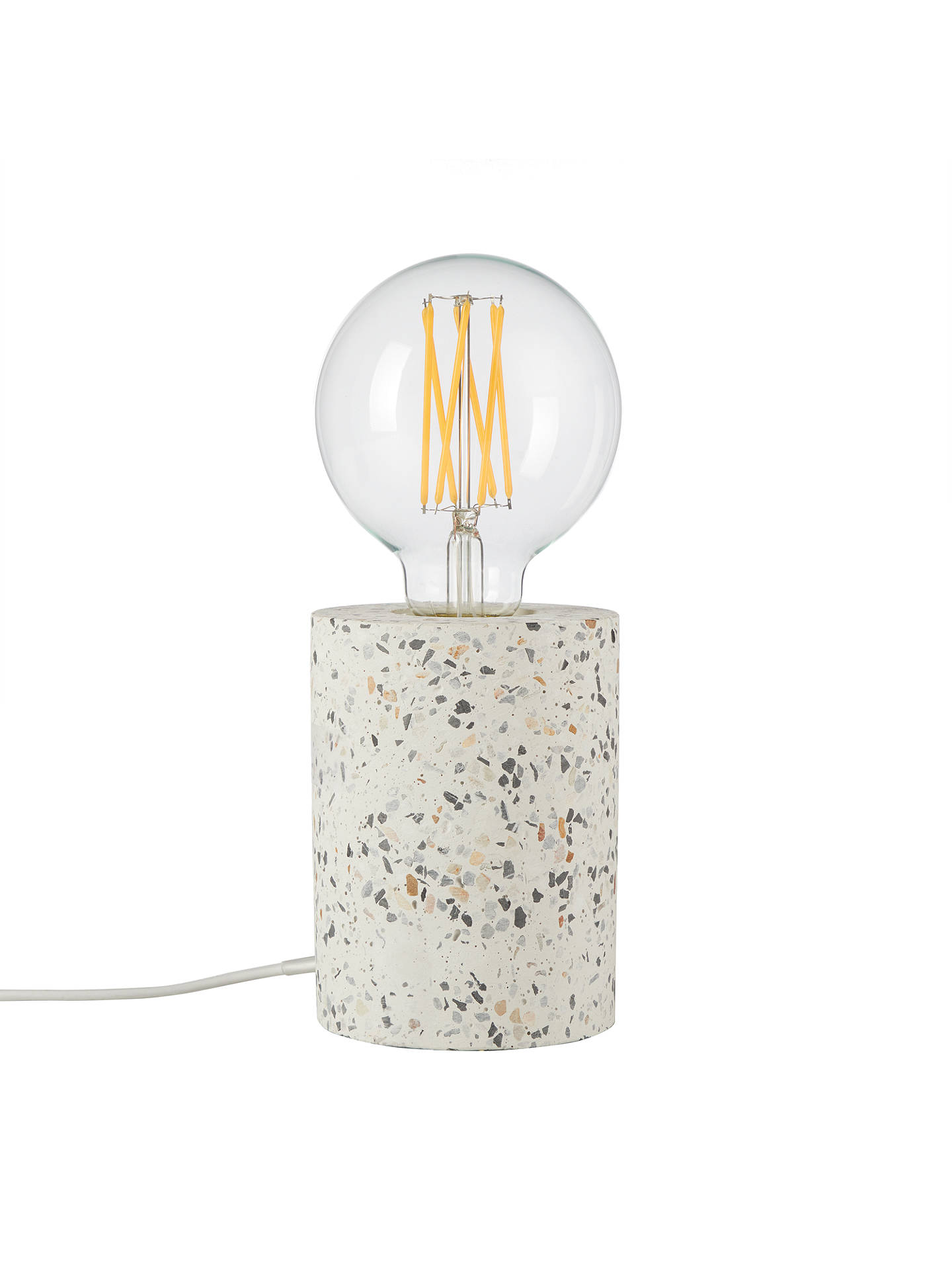 BuyHouse by John Lewis Terrazzo Ceramic Bulbholder Table Lamp, White/Multi Online at johnlewis.com