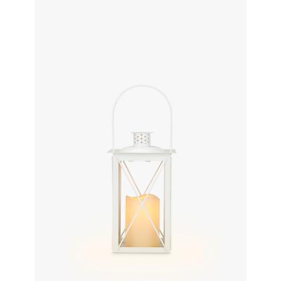John Lewis & Partners Fawley LED Outdoor Lantern, White