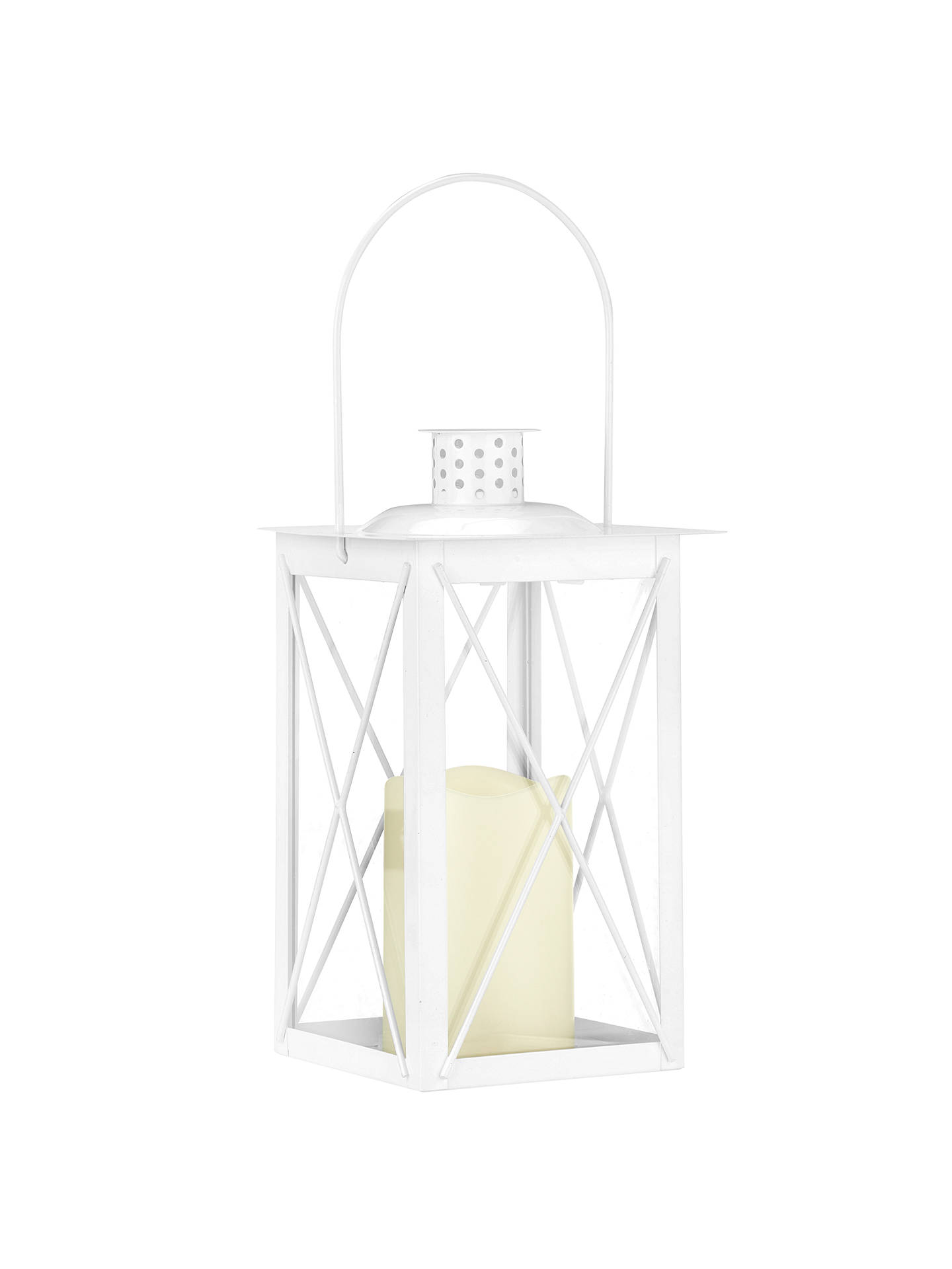 BuyJohn Lewis & Partners Fawley LED Outdoor Lantern, White Online at johnlewis.com