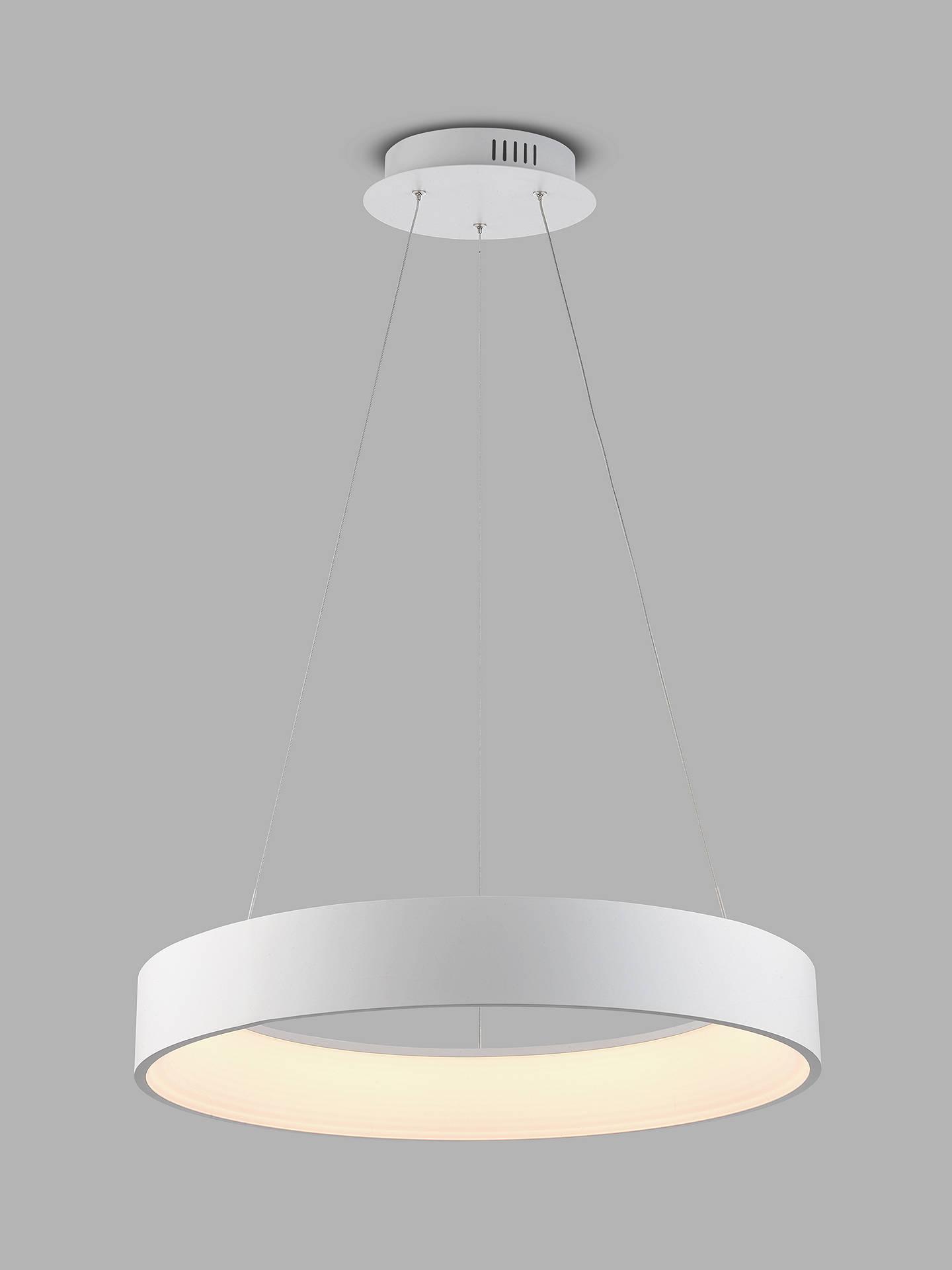 John Lewis Partners Leif Led Ribbed Hoop Ceiling Light White