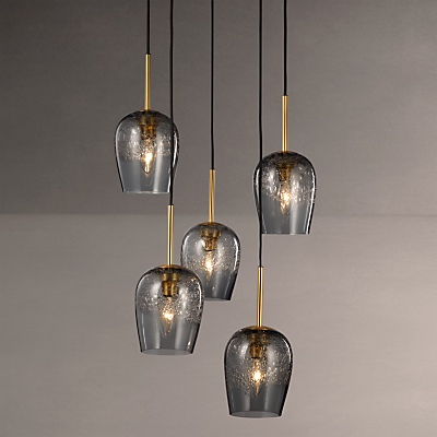9455788d188 John Lewis Olmedo 5 Pendant Bubble Glass Cluster Ceiling Light ...