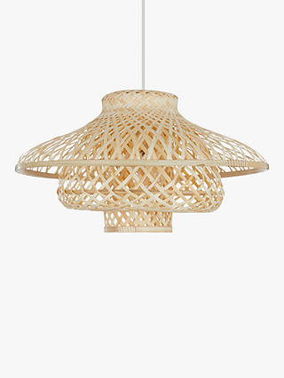 Buy John Lewis & Partners Lyssa Easy-to-Fit Rattan Ceiling Shade, Natural Online at johnlewis.com