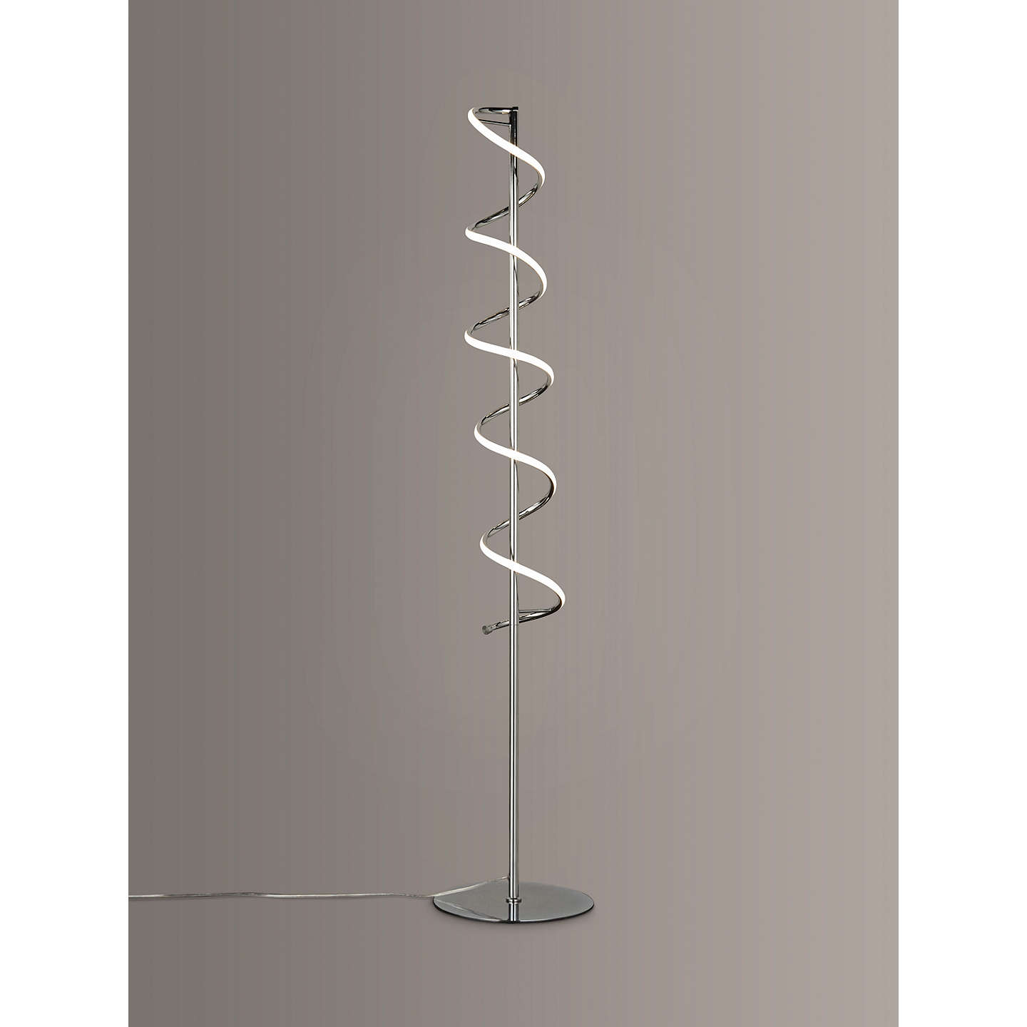 John lewis zena led twist floor lamp polished chrome at john lewis buyjohn lewis zena led twist floor lamp polished chrome online at johnlewis mozeypictures Choice Image