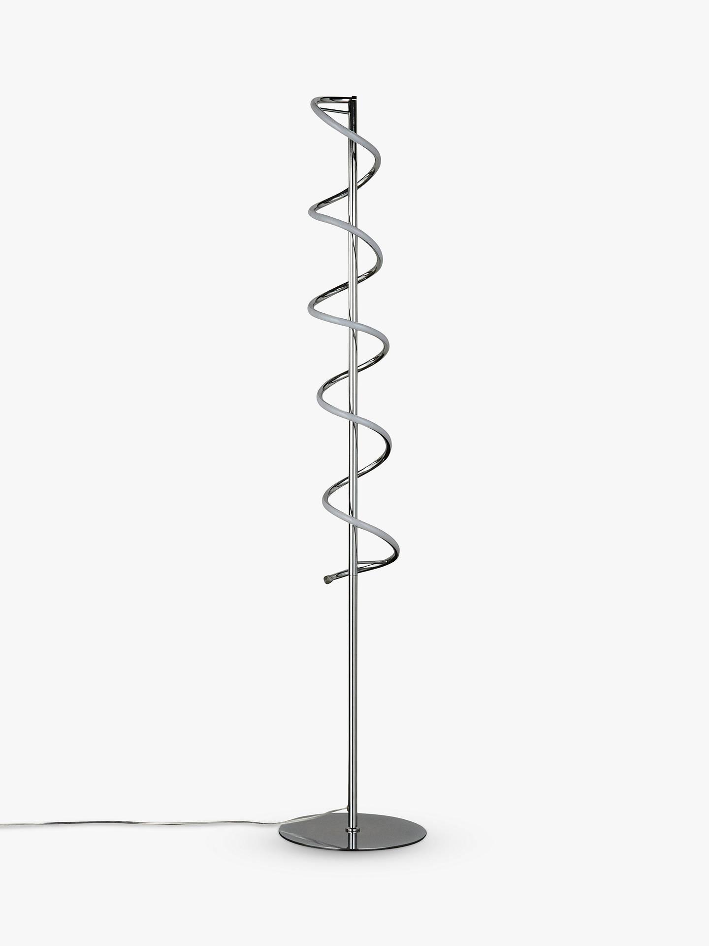 John Lewis Partners Zena Led Twist Floor Lamp Polished Chrome At Wiring A Buyjohn Online Johnlewis