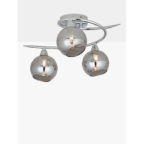 Ceiling lighting furniture lights john lewis buy john lewis ribbon semi flush 2 arm smoked glass ceiling light mozeypictures Choice Image