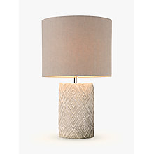 Buy John Lewis Samina Concrete Table Lamp, Grey Online at johnlewis.com