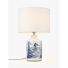 Buy John Lewis Salcombe Boats Ceramic Table Lamp, White Online at johnlewis.com