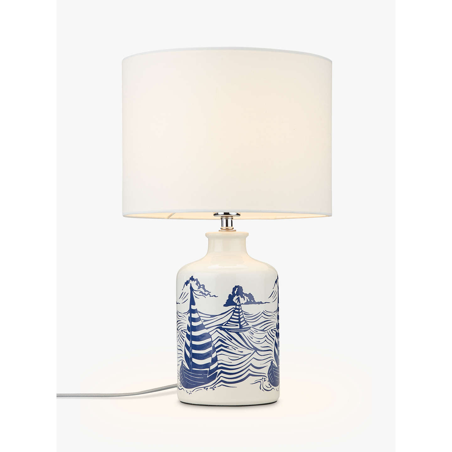 Exceptionnel BuyJohn Lewis Salcombe Boats Ceramic Table Lamp, White Online At  Johnlewis.com ...