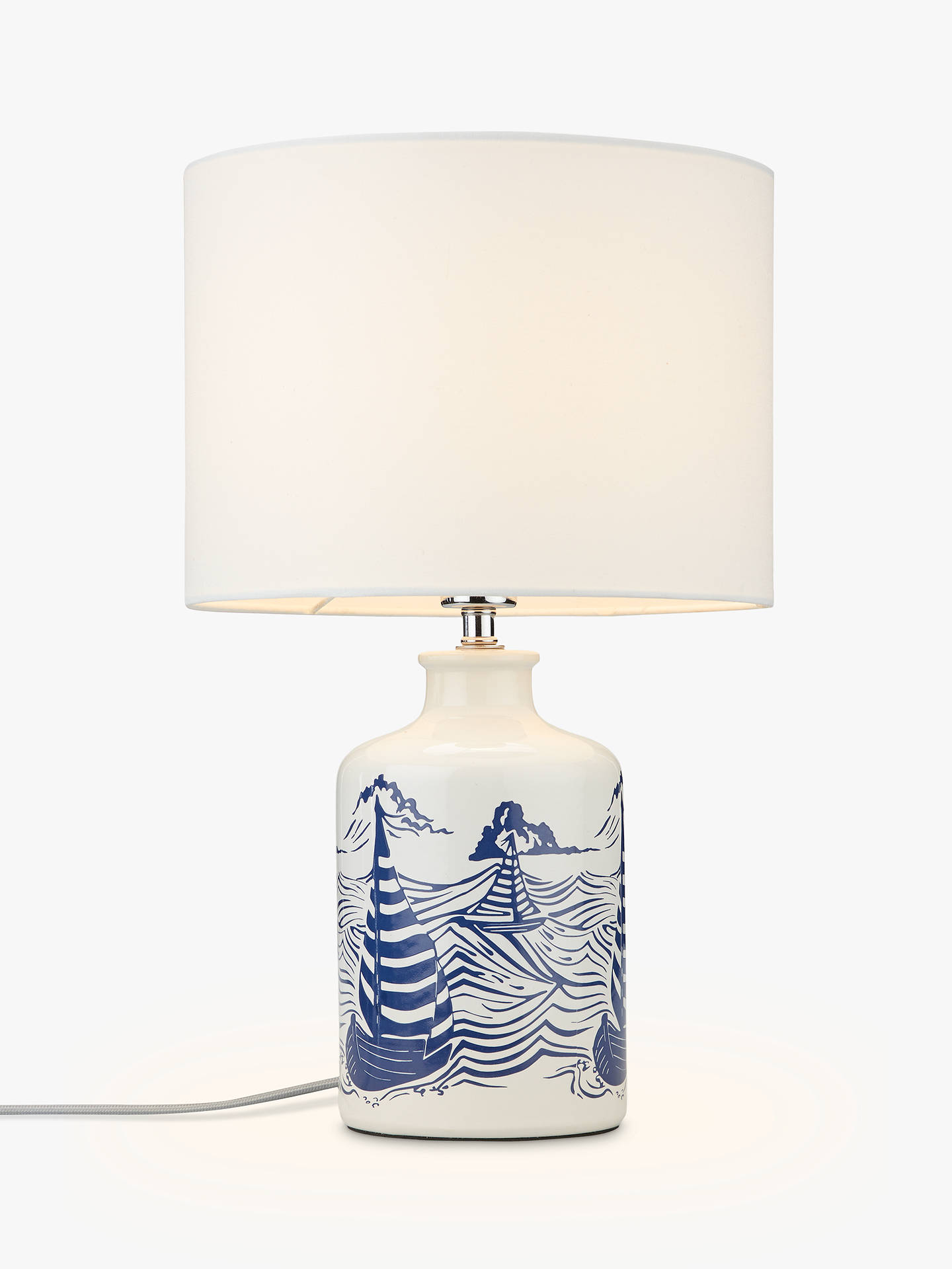 John lewis salcombe boats ceramic table lamp white at john lewis buyjohn lewis salcombe boats ceramic table lamp white online at johnlewis aloadofball Choice Image