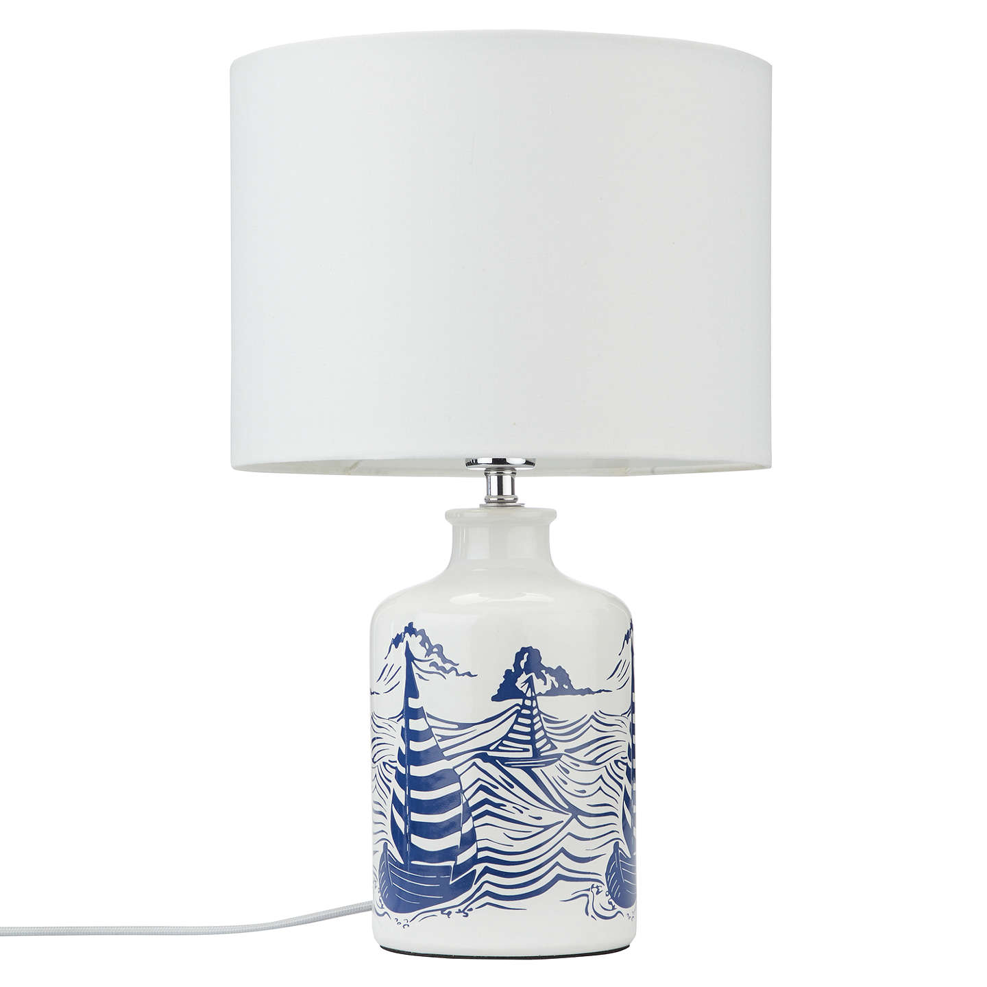 ... BuyJohn Lewis Salcombe Boats Ceramic Table Lamp, White Online At  Johnlewis.com ...