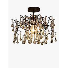 Buy John Lewis Victoria Semi Flush Ceiling Light, Brown Online at johnlewis.com