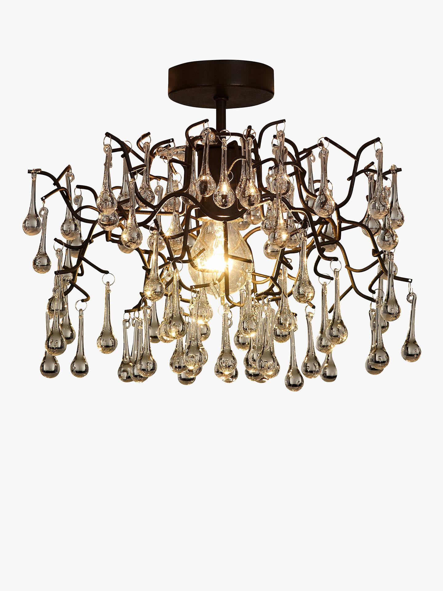 Buy john lewis partners victoria semi flush ceiling light brown online at johnlewis
