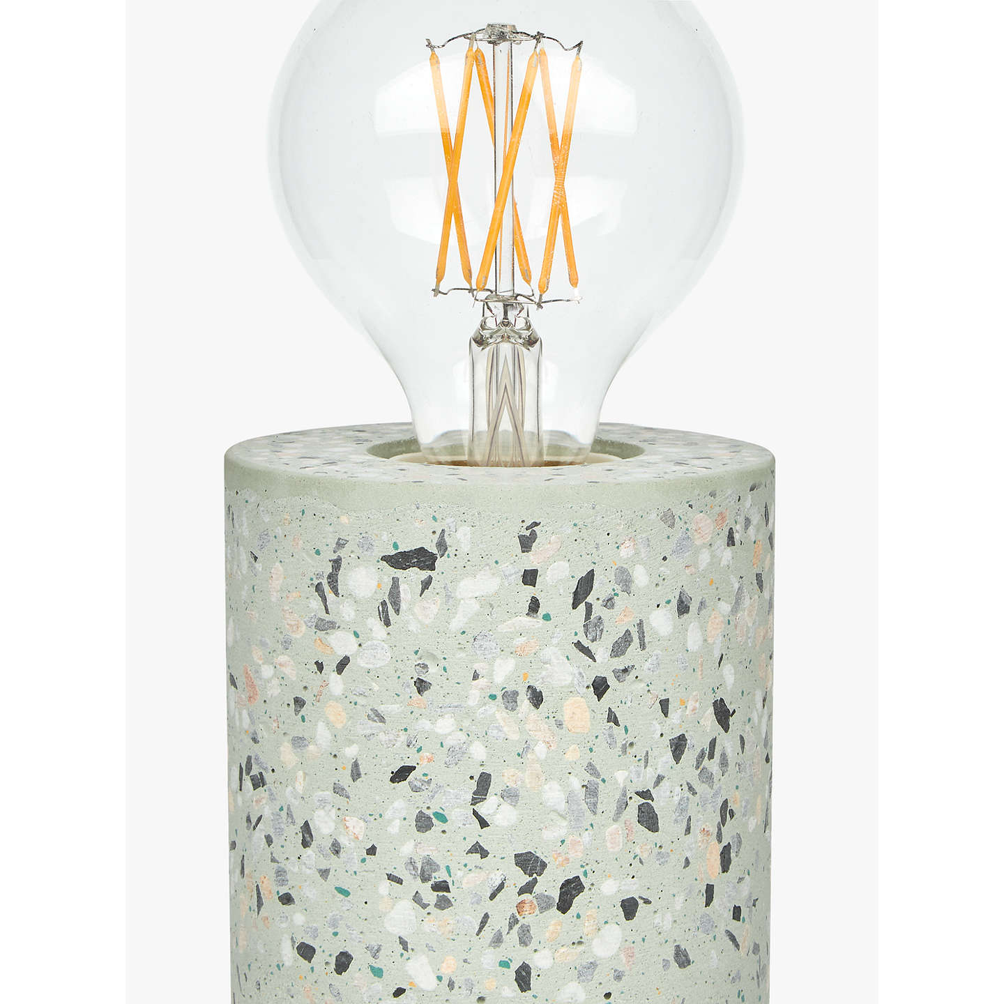 BuyHouse by John Lewis Terrazzo Ceramic Bulbholder Table Lamp, Blue/Multi Online at johnlewis.com