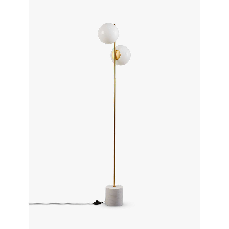 West elm sphere stem floor lamp brass at john lewis buywest elm sphere stem floor lamp brass online at johnlewis aloadofball Gallery
