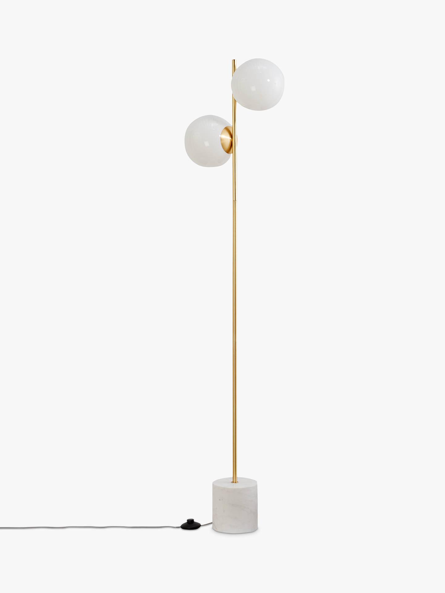 west elm Sphere + Stem Floor Lamp, Brass