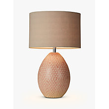 Buy John Lewis Vedika Ceramic Mosaic Stamped Table Lamp, Pink Online at johnlewis.com