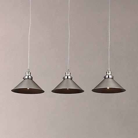 Buy john lewis tobias 3 pendant diner ceiling light nickel john buy john lewis tobias 3 pendant diner ceiling light nickel online at johnlewis mozeypictures Gallery