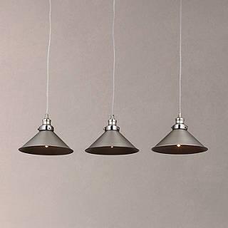 Ceiling lighting furniture lights john lewis john lewis tobias 3 pendant diner ceiling light nickel aloadofball Images