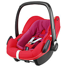 Buy Maxi-Cosi Pebble Plus i-Size Group 0+ Baby Car Seat, Red Orchid Online at johnlewis.com